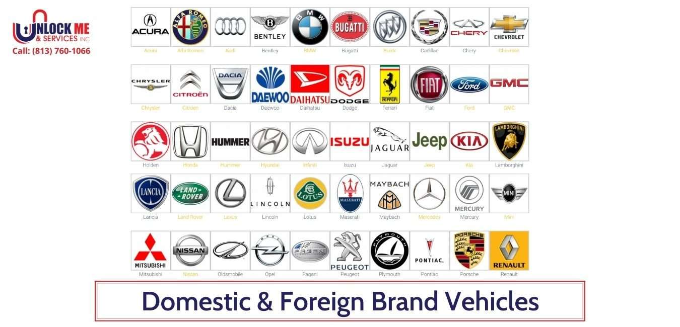 We Serve All Domestic & Foreign Brand Vehicles- Unlock Me & Services Inc (813) 760-1066